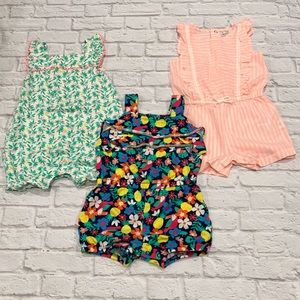 Lot of 18M Carters summer rompers for girls☀️🌸